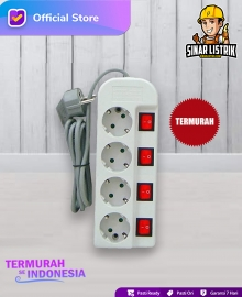 Stop Kontak Switch Kabel 4 Lubang