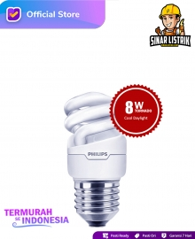 Lampu Philips Spiral 8W