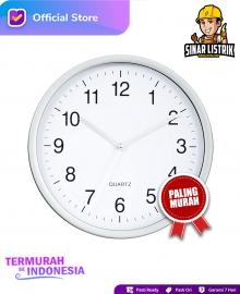 Jam Dinding Quartz Putih